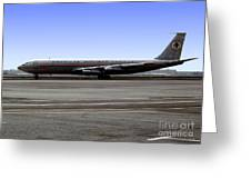 Boeing 707 American Airlines Freight Aal Greeting Card