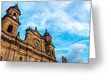 Bogota Cathedral Front Greeting Card