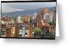 Bogota City View Greeting Card