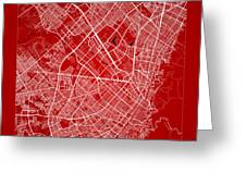 Bogota Street Map - Bogota Colombia Road Map Art On Color Greeting Card
