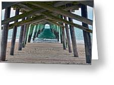 Bogue Banks Fishing Pier Greeting Card