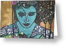 Bohee Woman Greeting Card
