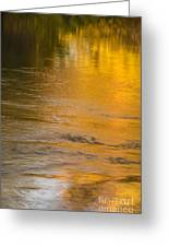 Boise River Autumn Abstract Greeting Card