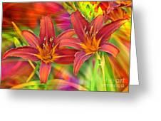Bold And Beautiful Daylilies Greeting Card