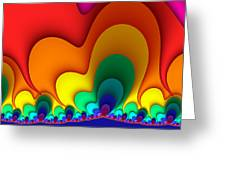 Bold Colors Fractal Greeting Card
