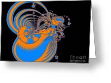 Bold Energy Abstract Digital Art Prints Greeting Card