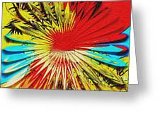 Bold Floral Hat Abstract Greeting Card