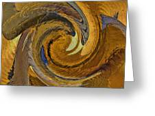 Bold Golden Abstract Greeting Card