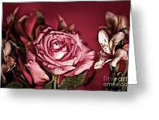 Bold Pink Rose Bouquet Greeting Card