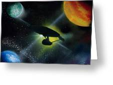 Boldly Go Greeting Card by Thomas DOrsi