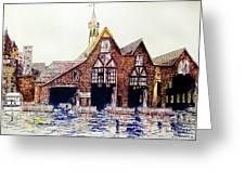 Boldt Castle Boat House Greeting Card