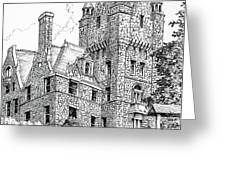 Boldt Castle With Seagull Greeting Card