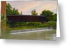 Bollinger Cover Bridge Greeting Card