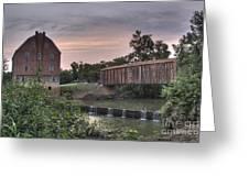 Burfordville Mill Greeting Card