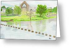 Bolton Abbey Greeting Card by Bav Patel