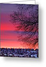 Bolton Sunset Greeting Card