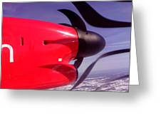 Bombardier Propeller Jet Greeting Card