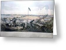 Bombardment Of Fort Fisher Greeting Card