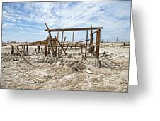 Bombay Beach Ruins Greeting Card