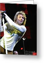 Bon Jovi Greeting Card