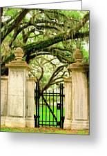Bonaventure Gate Savannah Ga Greeting Card