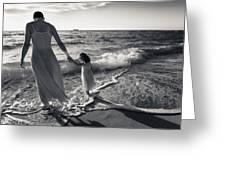Bonding In The Surf Greeting Card