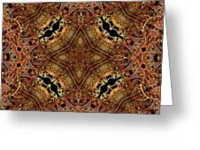 Bone Tapestry Greeting Card