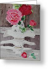 Bones And Roses Greeting Card