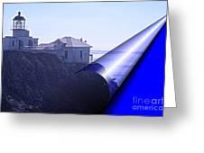 Bonita Lighthouse Landscape Greeting Card