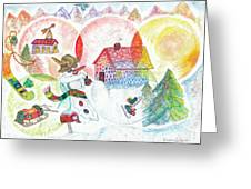 Bonnefemme De Neige / Snow Woman Greeting Card