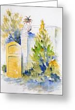 Bonnet House Garden Gate Greeting Card