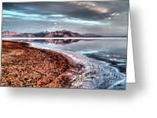 Bonneville Salt Flats Greeting Card