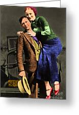Bonnie And Clyde 20130515 Greeting Card by Wingsdomain Art and Photography