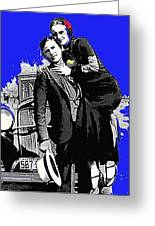 Bonnie And Clyde March 1933 1932 Ford V-8 B-400 Convertible Sedan 1933-2013 Greeting Card