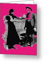Bonnie Parker Aiming Rifle At Clyde Barrow March 1933-2008 Greeting Card