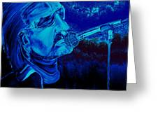 Bono In Blue Greeting Card