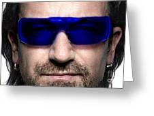 Bono Of U2 Greeting Card