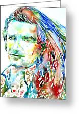 Bono Watercolor Portrait.2 Greeting Card