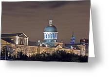 Bonsecours At Night Greeting Card