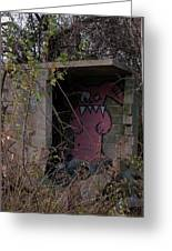 Boogie Monster Graffiti Greeting Card