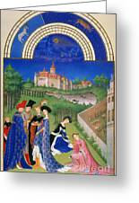 Book Of Hours: April Greeting Card