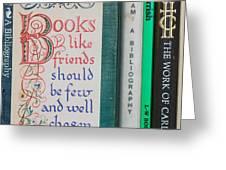 Books Like Friends Greeting Card