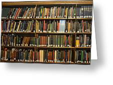Bookshelves Greeting Card