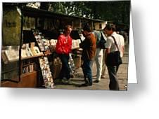 Bookstalls On Left Bank Greeting Card