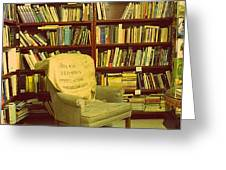 Bookstore Nook Greeting Card by Lorraine Heath