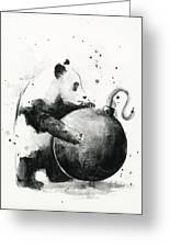 Boom Panda Greeting Card