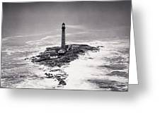 Boon Island Light Tower Circa 1950 Greeting Card by Aged Pixel