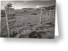 Boot Hill - Virginia City - Montana Greeting Card