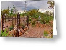 Boothill Cemetary Image Greeting Card