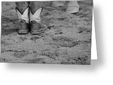 Boots And Horse Hooves Greeting Card